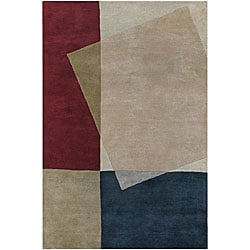 Hand-tufted Mandara Multicolor Wool Area Rug (5' x 7'6)