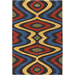"Hand-Tufted Mandara Multicolor Geometric Wool Rug (7'9"" x 10'6"")"