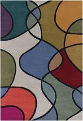 "Hand-Tufted Mandara Multicolor Wool Area Rug (7'9"" x 10'6"")"
