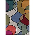 Hand-Tufted Mandara Multicolor Wool Area Rug (7'9