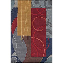 Hand-tufted Mandara Multi-colored Wool Rug (7'9 x 10'6)