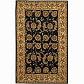 Hand-tufted Mandara Black New Zealand Wool Rug (5' x 7'6)