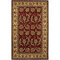 Hand-tufted Mandara Red New Zealand Wool Rug (5' x 7'6)