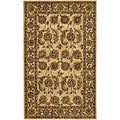 Hand-tufted Mandara Tan New Zealand Wool Rug (5' x 7'6)