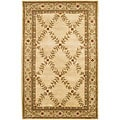 "Classic Hand-Tufted Mandara Ivory New Zealand Wool Rug (5' x 7'6"")"