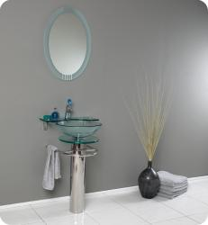 Fresca Ovale Glass Bathroom Vanity
