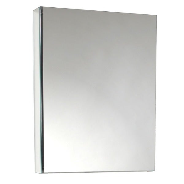 recessed or surface mount medicine cabinet with silver beveled mirror