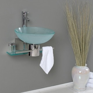 Fresca Cristallino Glass Bathroom Vanity