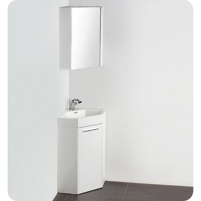 fresca coda white corner bathroom vanity overstock