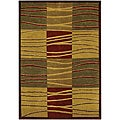 Geometric Hand-knotted Mandara Multicolor Wool Rug (5' x 7'6)