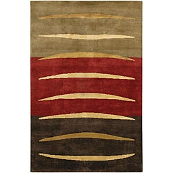 Casual Hand-knotted Mandara Multicolor Wool Rug (5' x 7'6)