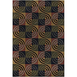 Contemporary Hand-tufted Mandara Multi Wool Rug (5' x 7'6)