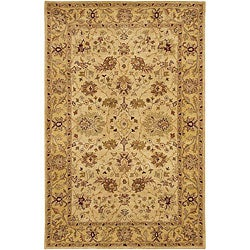 Hand-tufted Mandara Ivory/ Beige New Zealand Wool Rug (5' x 7'6)