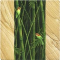 Thirstystone 'Bamboo and Birds' Sandstone Coasters (Set of 4)