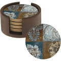 Thirstystone 'Floral Sequence' Sandstone Coasters and Holder (Set of 4)