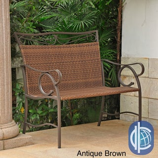 International Caravan Valencia Brown Resin Wicker/ Steel Loveseat