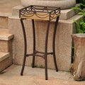 International Caravan Valencia Resin Wicker/ Steel Square Plant Stand
