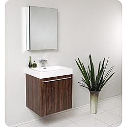 Fresca Alto Walnut Bathroom Vanity Set