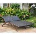 International Caravan Valencia Resin Wicker/ Steel Frame Multi-position Double Chaise Lounge
