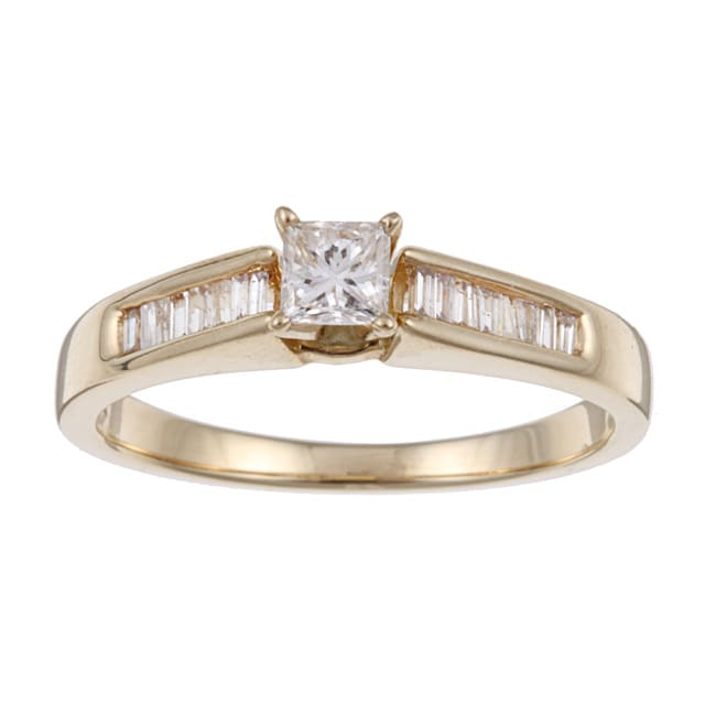 Eloquence 14k Yellow Gold 1/2ct TDW Diamond Engagement Ring (J-K, I2-I3)