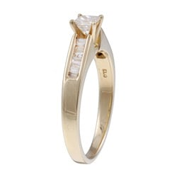 14k Yellow Gold 1/2ct TDW Diamond Engagement Ring (J-K, I2-I3)