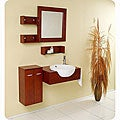 Fresca Stile Oak Modern Bathroom Vanity with Mirror and Side Cabinet