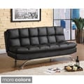 Furniture of America Pascoe Bicast Leather Sofa/ Futon