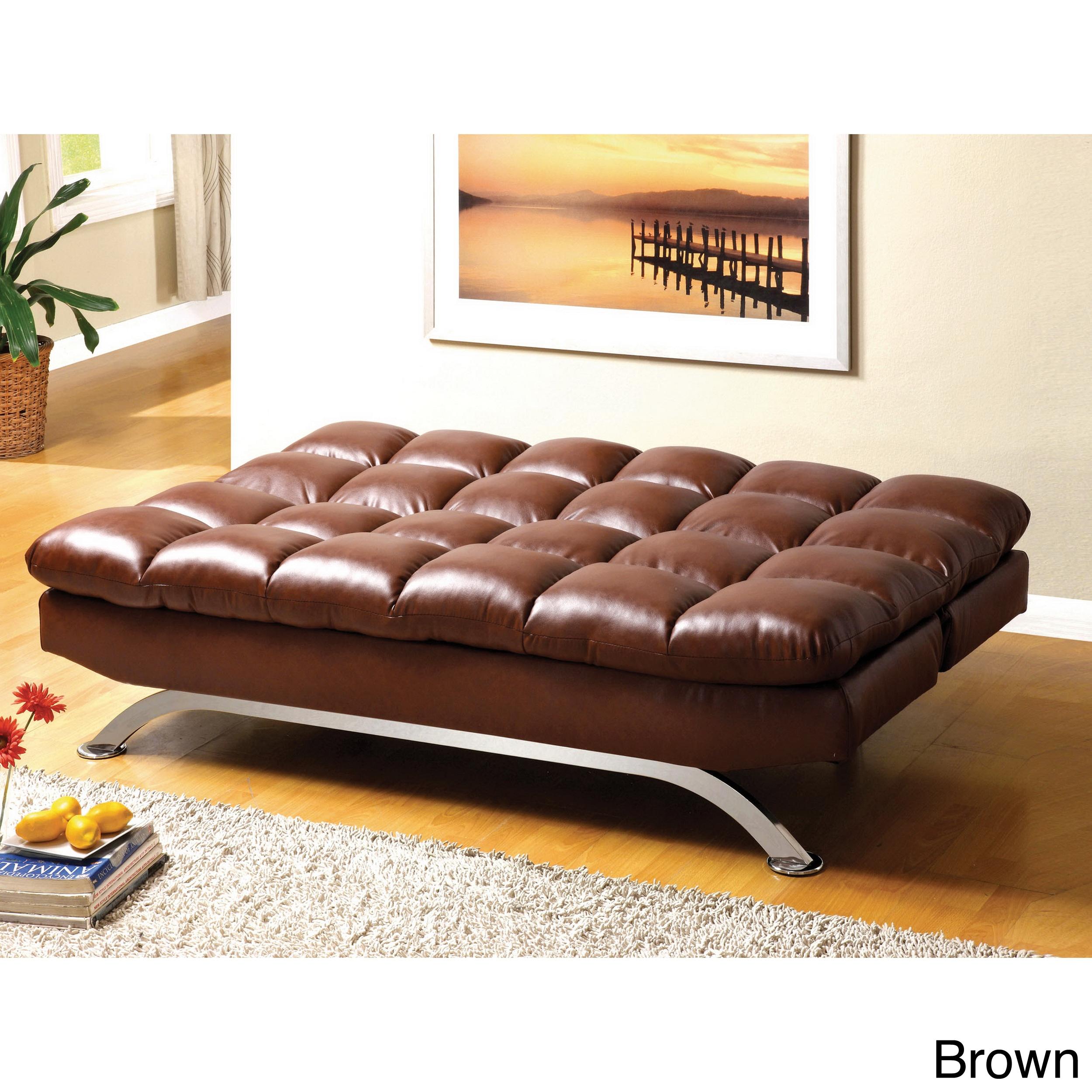 Furniture Of America Pascoe Bicast Leather Sofa/ Futon on PopScreen