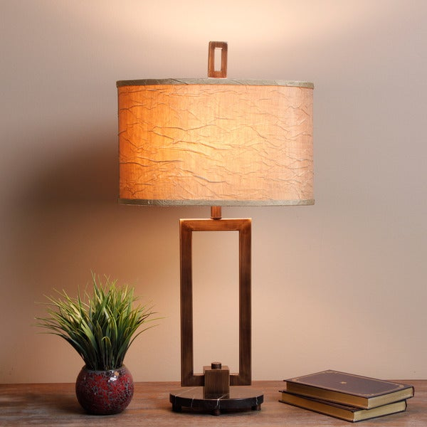 Fan Sui 3-way Bronze Table Lamp
