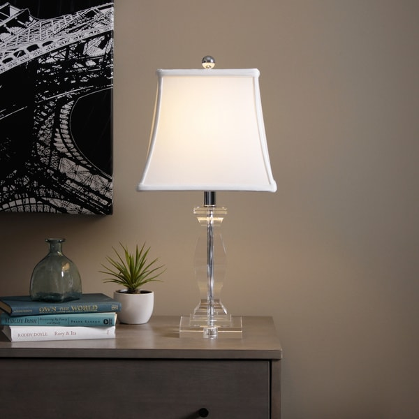 Turkis Crystal 3-way Chrome Table Lamp