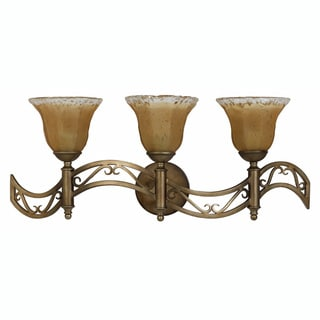Donatelli 3-light Platinum Bronze Vanity Fixture
