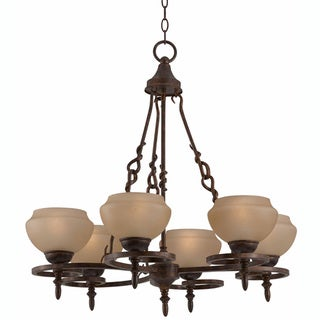 Gibson 6-light English Bronze Chandelier