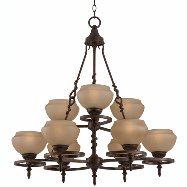 Gibson 9-light English Bronze Chandelier
