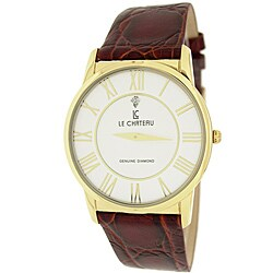 Le Chateau Men's '7070M' Classica Diamond Romano Slim Watch