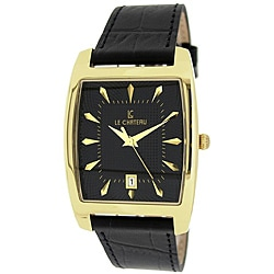 Le Chateau Men's '7074M' Classica Collection Textured-dial Quartz Watch