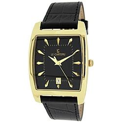Le Chateau Men's '7074M' Classica Collection Textured-dial Quartz Watch