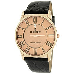 Le Chateau Men's '7070M' Classica Diamond Romano Slim Japanese-quartz Watch
