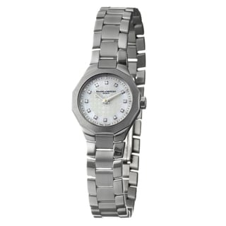 Baume & Mercier Women's 'Riviera' Stainless Steel Diamond Accent Quartz Watch