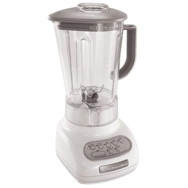 KitchenAid RKSB560WH White 5-Speed with 56-oz Polycarbonate Jar Blender (Refurbished)