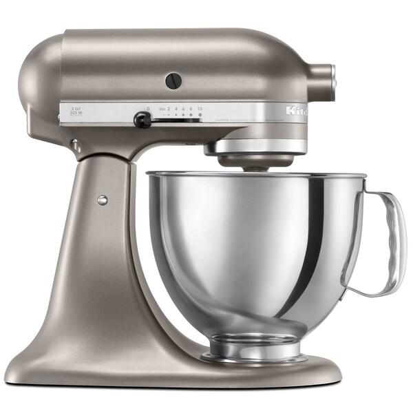 KitchenAid RRK150CS Cocoa Silver 5-quart Artisan Tilt-Head Stand Mixer (Refurbished)