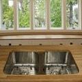 Highpoint Collection Stainless Steel 33-inch Undermount 50/50 2-bowl Kitchen Sink