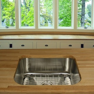 Highpoint Collection Stainless Steel 23-inch Small Rectangle Kitchen Sink