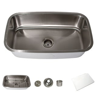 Highpoint Collection Stainless Steel 31-inch Large Rectangle Kitchen Sink