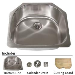 Highpoint Collection Stainless Steel 24-inch Classic D-style Kitchen Sink