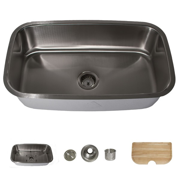 Highpoint Collection Stainless Steel 30-inch Large Rectangle Kitchen Sink