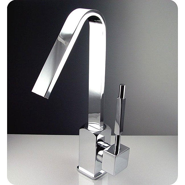 Fresca Liris Single Hole Mount Chrome Bathroom Faucet