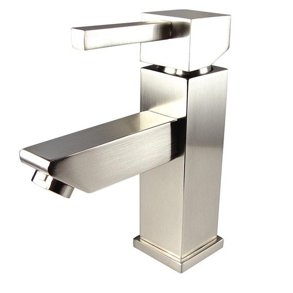 Fresca Versa Single Hole Mount Brushed Nickel Bathroom Faucet