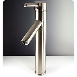 Fresca Soana Vessel Mount Brushed Nickel Bathroom Faucet
