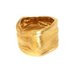 Adee Waiss 18k Yellow Gold Overlay Wide Ring