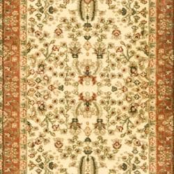 Lyndhurst Collection Oriental Ivory/ Rust Runner (2'3 x 12')